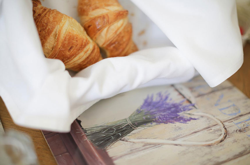 Croissants at Brindleys Boutique B&B